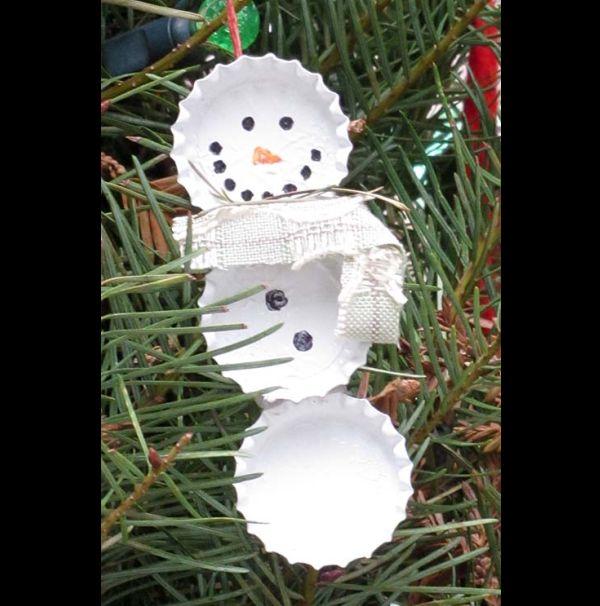 enfeite natalino reciclado tampinha