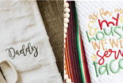 modelos de toalha bordada