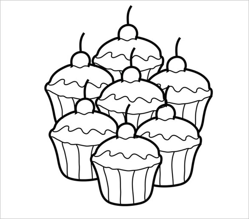desenho de cupcake varios