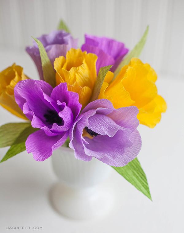 flor de crepom no vasinho