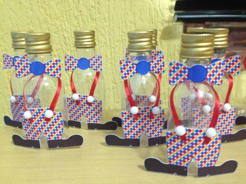 garrafinhas decoradas palhaço