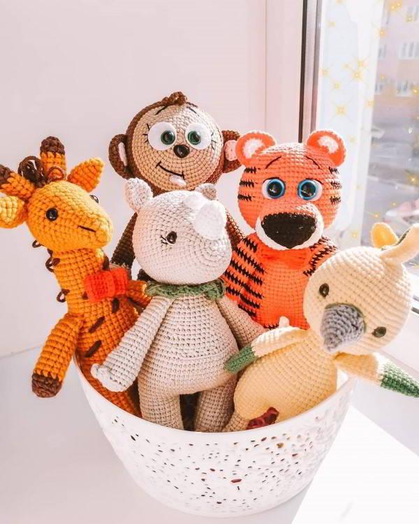 ideias de animais com crochê