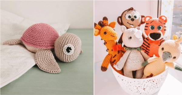 modelos de animais de crochê