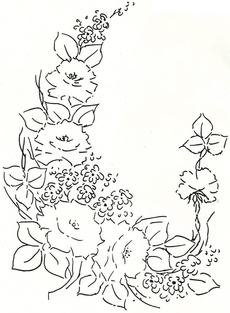 risco de rosas pintadas