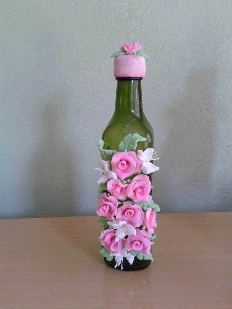 garrafa decorada bisucit