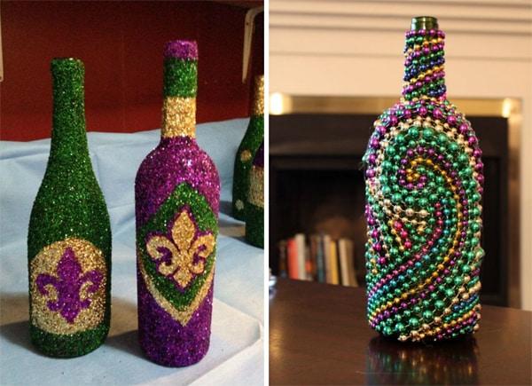 garrafa para o carnaval com brilho