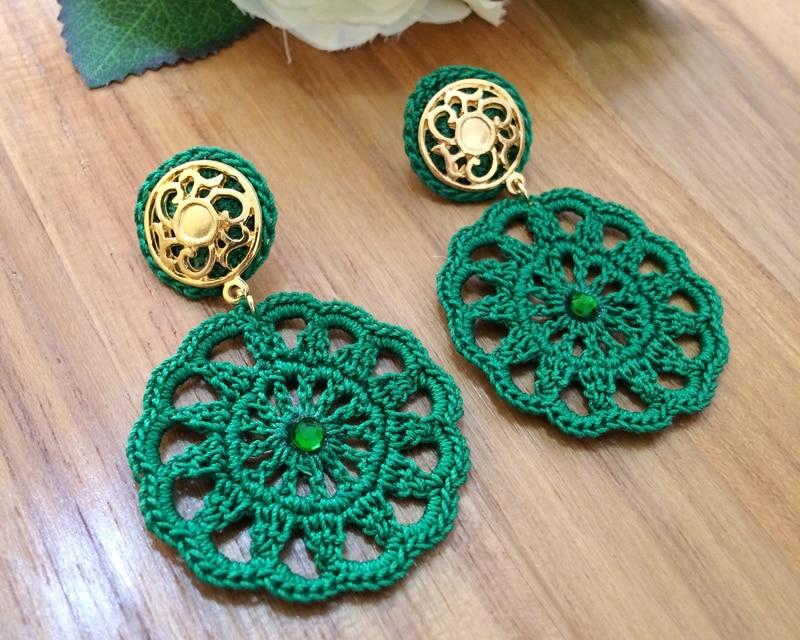 brinquinho de croche verde