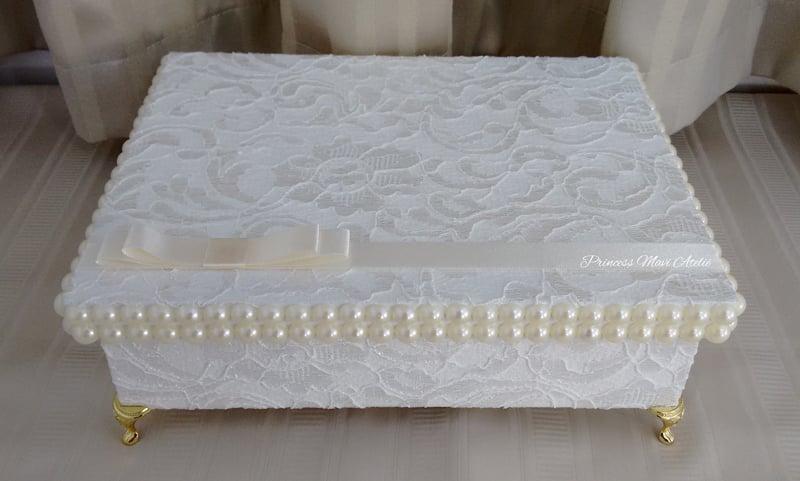 caixa decorada com pe