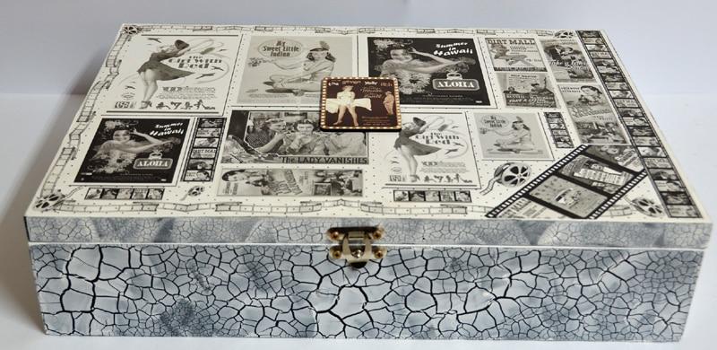caixa decorada com craquele