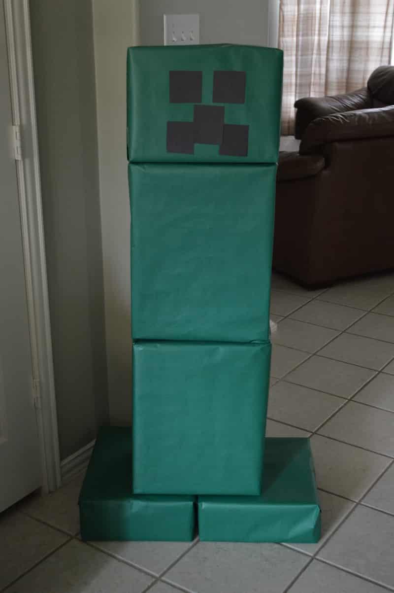 boneco minecraft verde