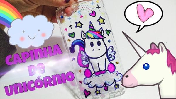 capinha de unicornio pintada