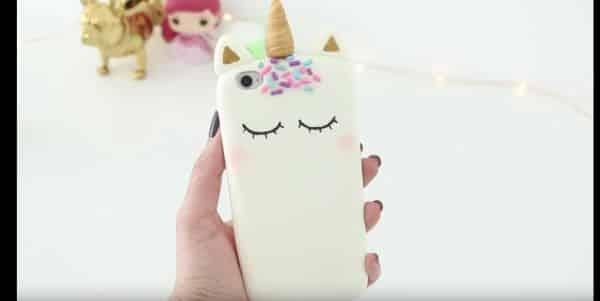 capinha de unicornio silicone