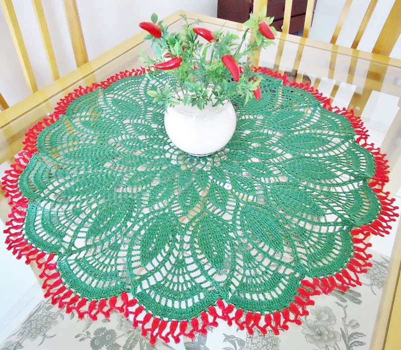 centro de mesa de croche grande