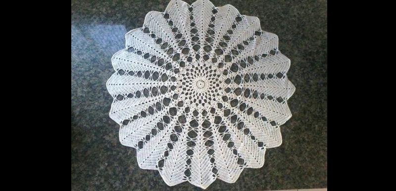 centro de mesa de croche com pontas
