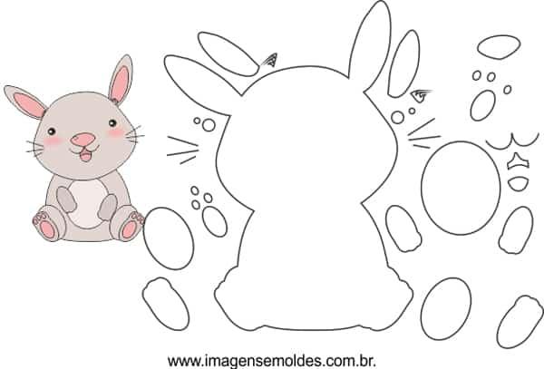 molde de coelho fofo