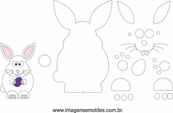molde de coelho gordo