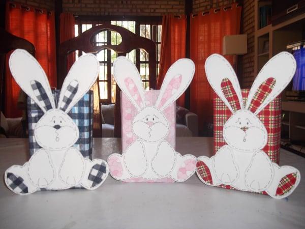 porta-trecos reciclado coelho