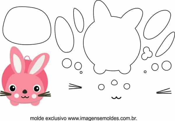 molde de coelho pink