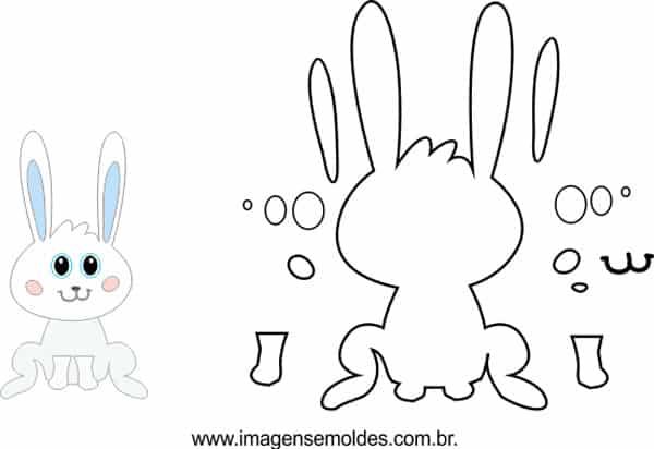 molde de coelho sentado