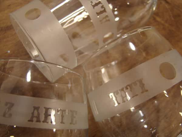vidro fosqueado personalizado