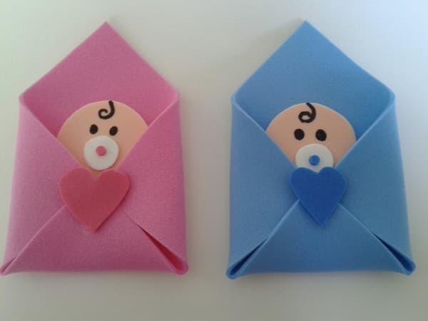 lembrança chá de bebê envelope