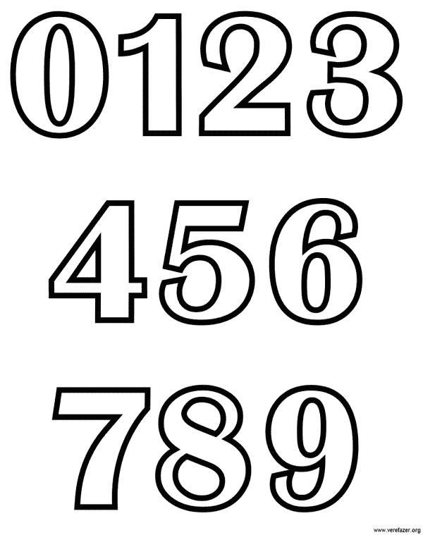 molde de numeros pequenos