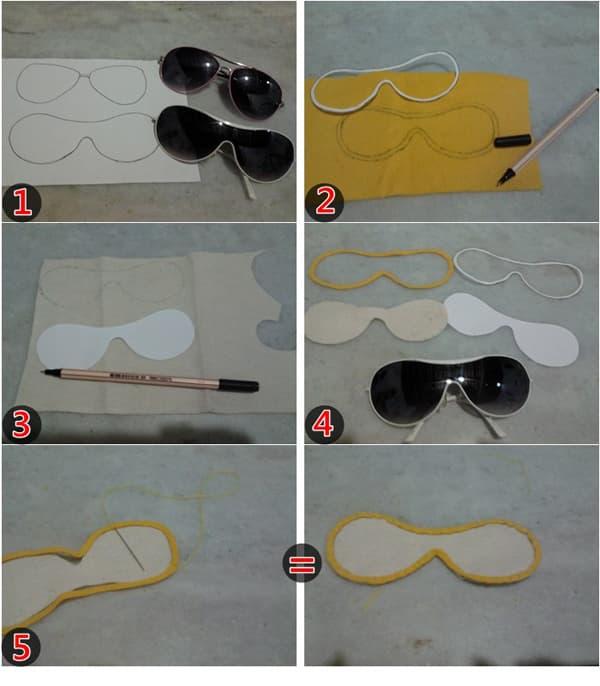 passo a passo case para óculos