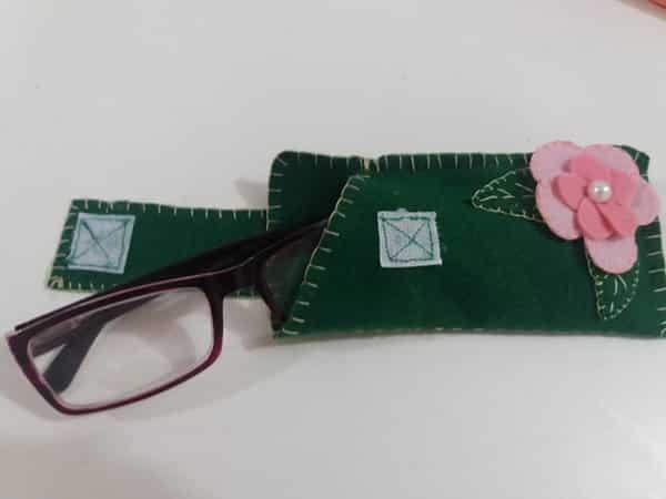 case para óculos velcro