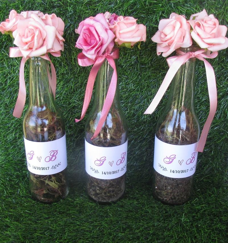 garrafa decorada bucolica