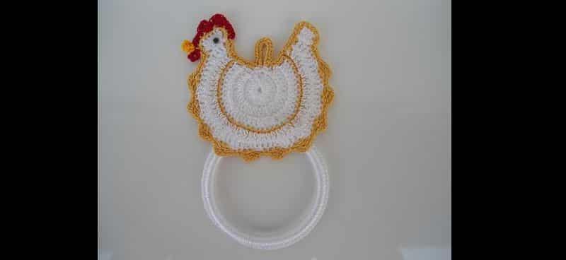 porta pano de prato de galinha