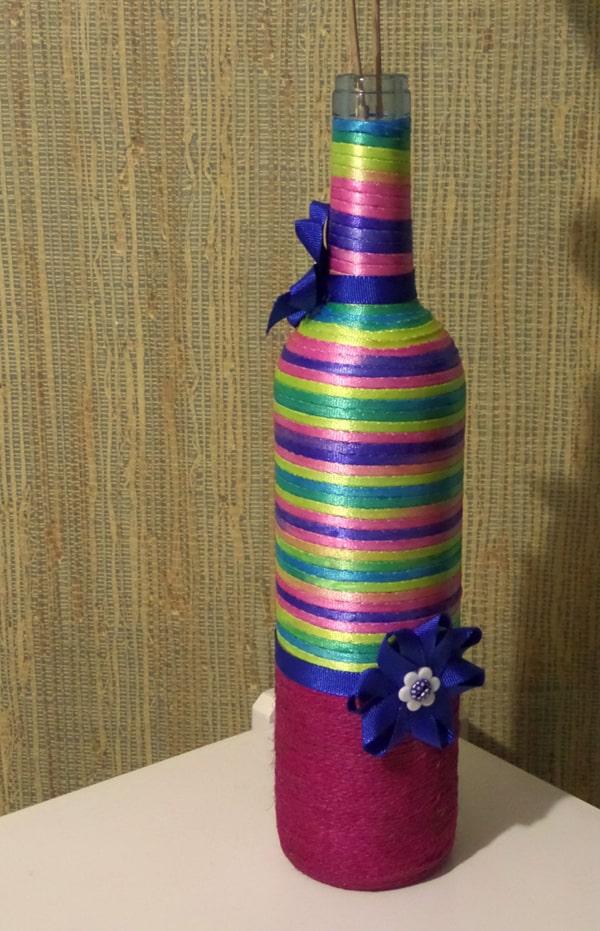 garrafa para o carnaval com linha