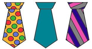 molde de gravata colorida