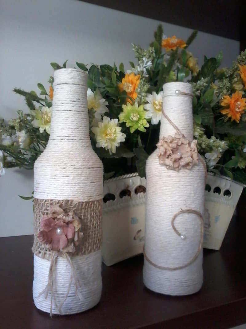 garrafa decorada rustica