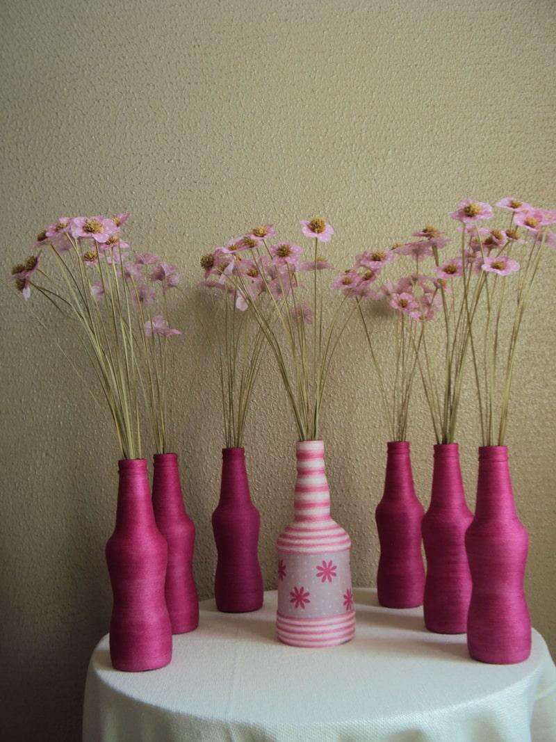 garrafa decorada pink