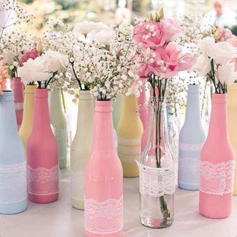 garrafa decorada colorida