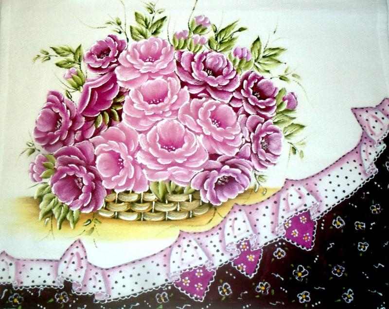 rosas pintadas lilas