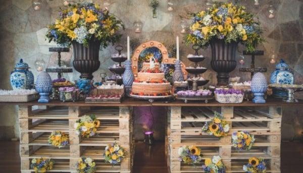 decoração de casamento com palete