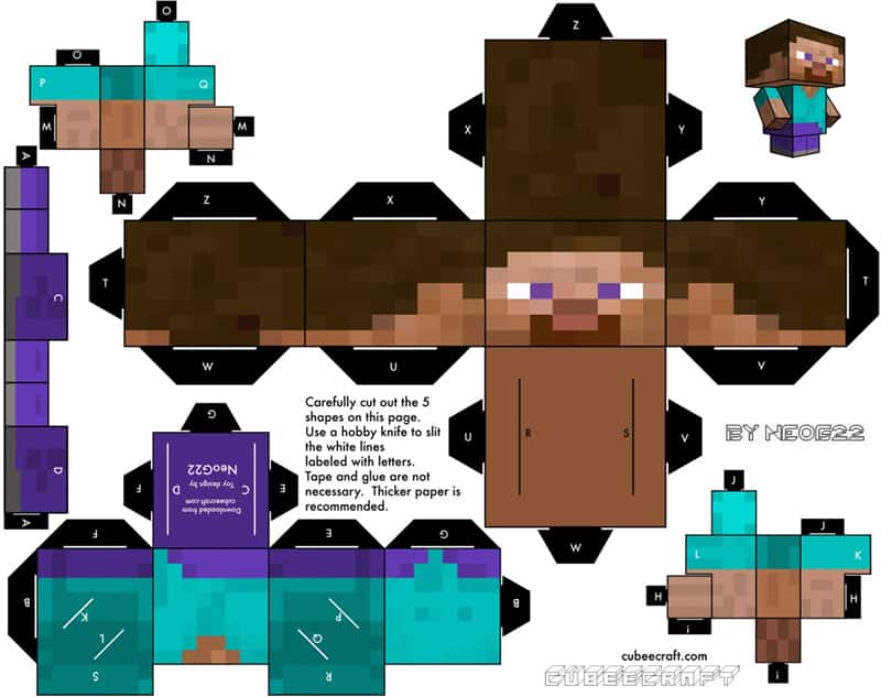 Minecraft Steve Boneco Lock Down I