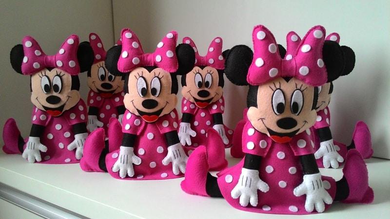 Muitas vezes Lembrancinhas da Minnie Rosa e Vermelha: 30 Modelos - Artesanato  GZ94