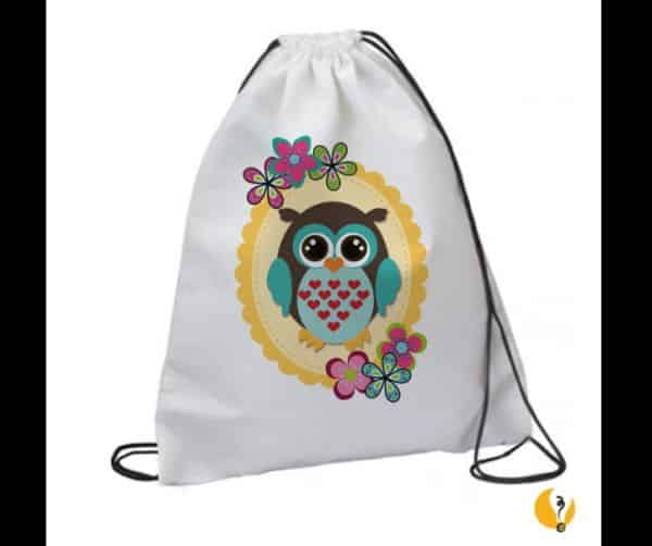 mochila tipo saco coruja
