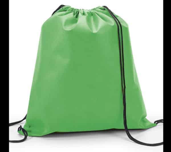 mochila tipo saco verde