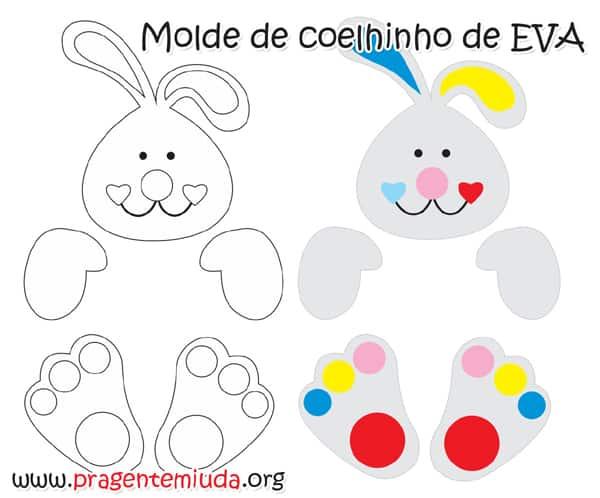 molde de coelho simples
