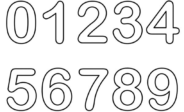 molde de numeros grandes