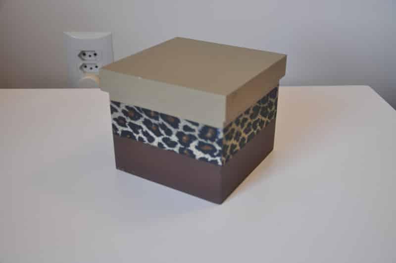 caixa decorada com estampa