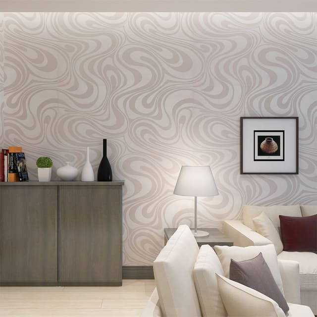 decoração com papel de parede sala
