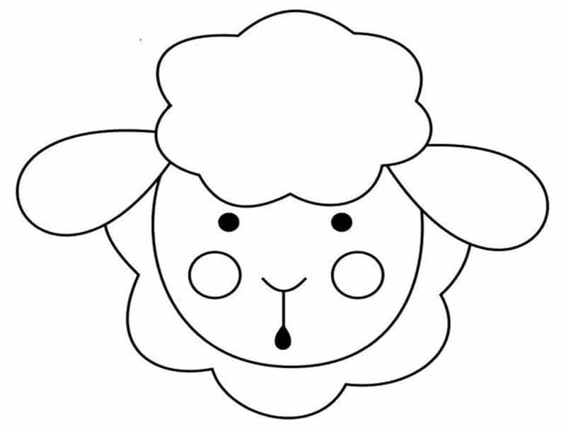 molde de ovelha eva