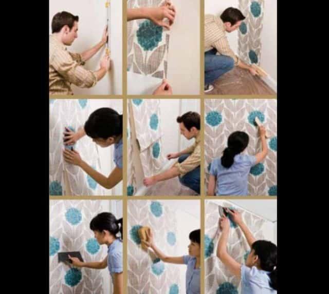 decoração com papel de parede passo a passo
