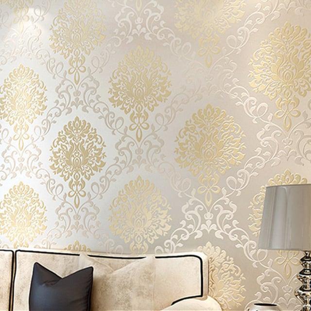 decoração com papel de parede sofisticado