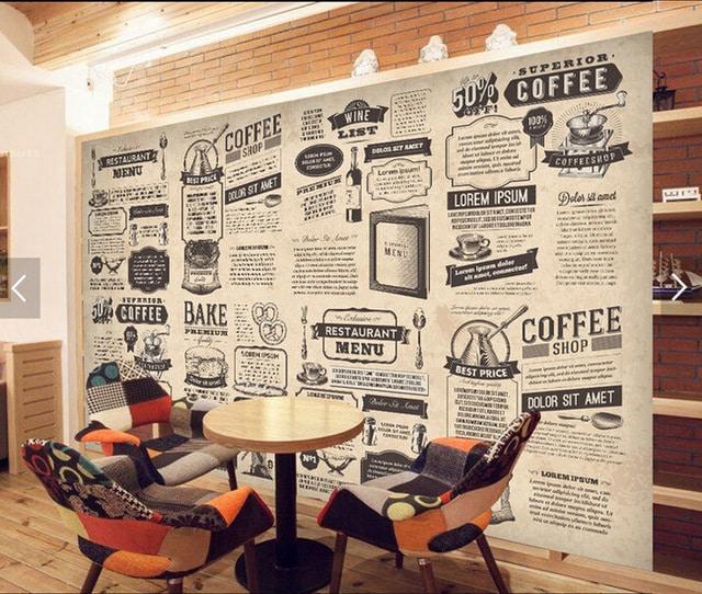decoração com papel de parede jornal
