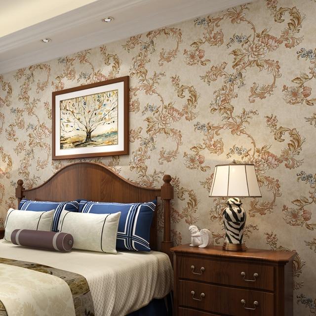 decoração com papel de parede quarto
